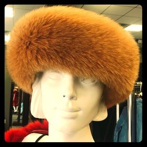 Genuine Fox Fur Headband - Tan